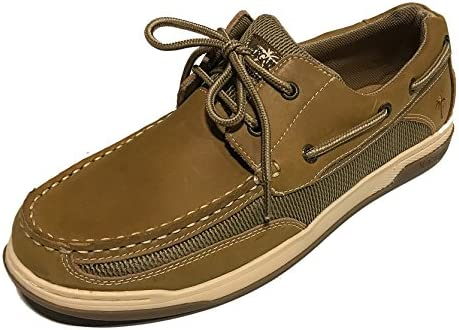 4f6dadd2823b4 Margaritaville Mens Boat Shoes (9, Tan)
