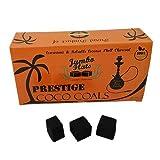 Prestige Bubbles Coco Coals 100% Natural Coconut Hookah Charcoal, JUMBO FLATS, 1 KG