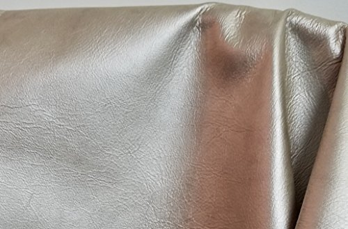 NAT Leathers Gold Pearlized Metallic Soft two Tone Upholstery Cowhide leather 2.5-3.0 oz Crafting Upholstery Calf Genuine Leather Cow Hide Skin (8-11 sq.ft. (half hide))
