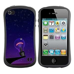 Suave TPU GEL Carcasa Funda Silicona Blando Estuche Caso de protección (para) Apple Iphone 4 / 4S / CECELL Phone case / / Funny Lonely Lightbulb /