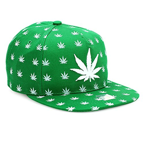 Unisex-Weed-Leaf-Snapback-Adjustable-Baseball-Dad-Hats-Vintage-Cap-Flat-Bill-Plain-Hats