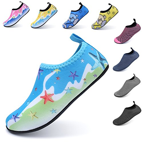 Pictures of LINGMAO Boys Water Shoes Barefoot Swimming Skin DD5050 8