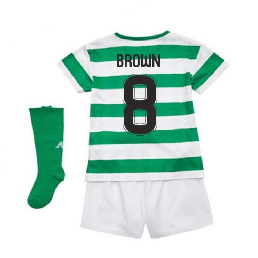 UKSoccershop 2018-2019 Celtic Home Little Boys Mini Kit (Scott Braun 8)