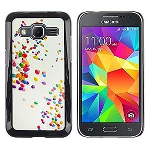 LECELL--Funda protectora / Cubierta / Piel For Samsung Galaxy Core Prime -- Globos coloridos --