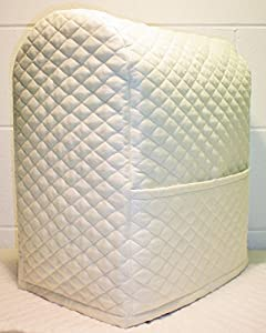 Quilted Kitchenaid Lift Bowl Stand Mixer Cover (Cream)