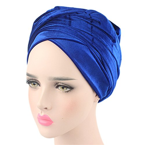 - Qhome Luxury Pleated Velvet Turban Hijab Head Wrap Extra Long Tube Indian Headwrap Scarf Tie