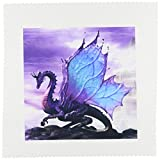 3drose qs_4144_1 Fairytale Dragon Square Quilt Sheet, 10 by 10-Inch