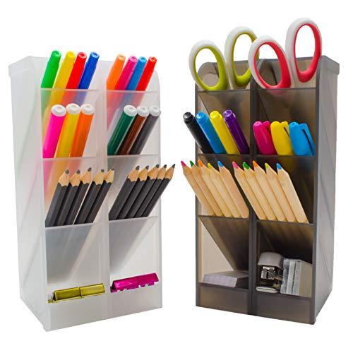 STYLIO Office Desk Organizer. Pen & Pencil Holder. Markers, Stationery Caddies Essential for Office/ Teacher Supplies…