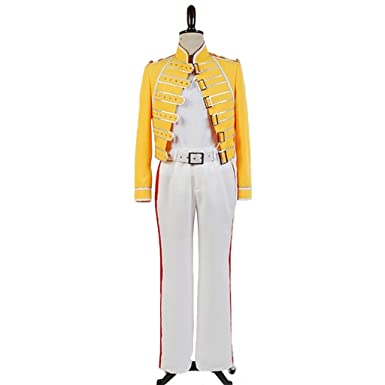 ae4bc7ad49828 CosplayDiy Men s Costume Suit for Queen Lead Vocals Freddie Mercury Cosplay  XS