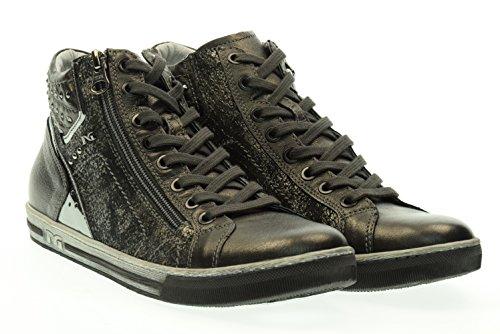 BLACK JARDINES alto de la mujer zapatillas de deporte A616040D / 105 Grigio