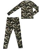 Weatherproof 32 Degrees Heat Boys Long Sleeve Shirt and Pant Base Layer Set (Large, Grey Camo)