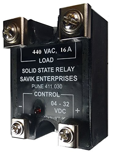 SSR 16A, DC to AC, Solid State Relay, 440 VAC/ 16 A, 04-32 V DC by Solid State Relay Wiring Heater on