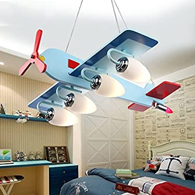 AMOS Atmospheric Eye Care Aircraft Lights Children 's Room Chandeliers Creative Cartoon Cute LED Bedroom Lighting Boy Room Lighting