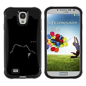 LASTONE PHONE CASE / Suave Silicona Caso Carcasa de Caucho Funda para Samsung Galaxy S4 I9500 / Text Design Face Black White Meaning