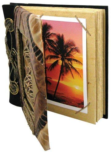 Islander Hawaiian Photo Album Palm Turtle 7'' x 7''