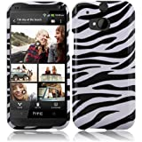 Cell Accessories For Less (TM) For HTC One M8 Design Cover Case - Zebra + Bundle (Stylus & Micro Cleaning Cloth) - By TheTargetBuys