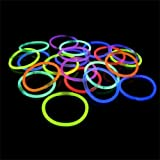 """200 22"""" Glow Light Stick Neon Necklaces WHOLESALE PACK (2 Tubes of 100 )"""