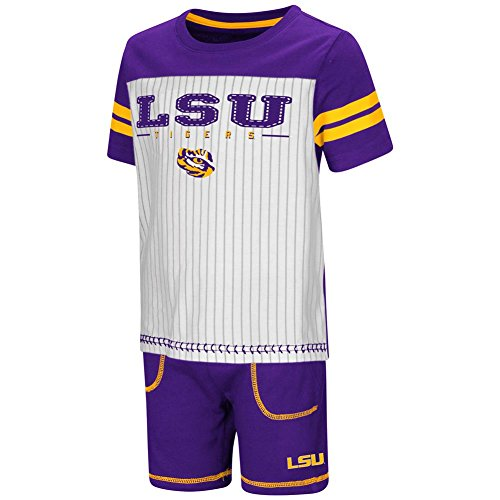 - Colosseum LSU Tigers Louisiana State Toddler Boy's Shorts and Baseball T-Shirt Set (3T)