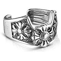 Covet Jewelry Fleur de Lis Cross Non-Piercing Ear Cuff