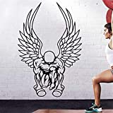 Studio Moll Gym Fitness Wing Muscle Dumbbell Cross Fit Body-Building Posters Gym - Wall Decals Mural Decor Vinyl Z8098