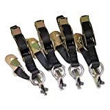 Qty 4 Manual Overcenter Buckle Strap w/ Snap Hook, Fits A-Track (Contact Us for L-Track)