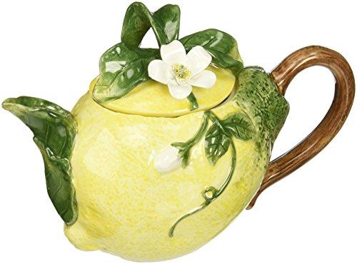 Cg 801-46 Lemon Shaped Teapot with White Blossom top