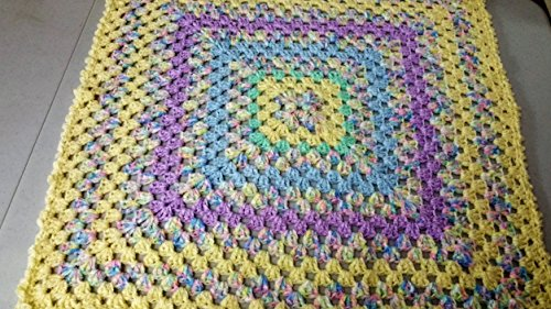 Hand Crocheted Baby Afghan - Hand Crocheted Baby Afghan in Yellow Multi