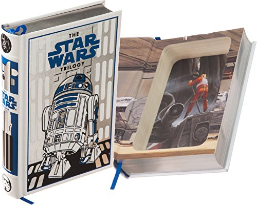 Real Hollow Book Safe - Star Wars, the Trilogy by George Lucas, Donald Glut (White - R2D2 Special Ed.) Leather-bound) (Magnetic Closure Optional)