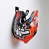 BESTUNT Motorcycle Helmet Holder - Shelf Hanger Storage Rack   Mount on wall Accessories   Black