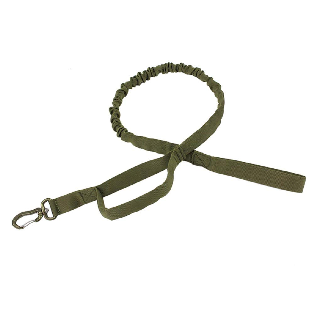 Army Green Center Tactical Dog Leash Aerospace Aluminum Hook Field Training Heavy Dogs Perfect Retractable Leash Medium to Large Dogs (Army Green)