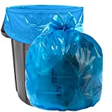 """Aluf Plastics 40-45 Gallon Blue Trash Bags - Pack of 100 - Garbage or Recycling Bags 33"""" by 46"""" 1.2 (Equivalent) MIL - for Industrial, Home, Contractor"""