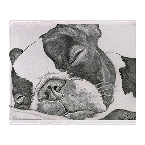 CafePress Boston Graphite Soft Fleece Throw Blanket, 50