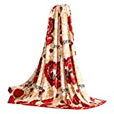 Flower Pattern Coral Carpet Infant Towel Air Conditioning Blanket