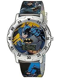 DC Comics Boy's Quartz Plastic Casual WatchMulti Color (Model: BAT4100)