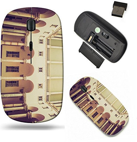 Liili Wireless Mouse Travel 2.4G Wireless Mice with USB Receiver, Click with 1000 DPI for notebook, pc, laptop, computer, mac book Vintage looking Palazzo Ducale Doge Palace in Genoa Italy ()