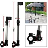Bicycle Mount Holder Linkertech Umbrella Bar Holder Wheelchair Baby Chair Bike Umbrella Frame Stand Handle Umbrella Connector Stroller Holder Moped Bike Mount Holder for Sunny Rain Umbrella