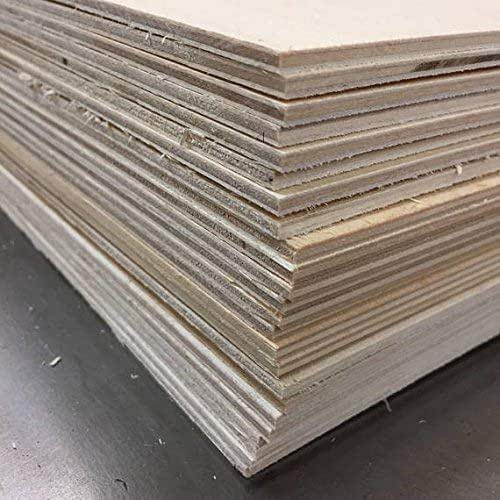 5 Sheets of 3mm x 300x600mm Birch Ply Plywood # SECONDS # Laserply Laser Safe