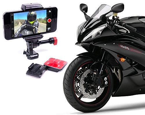 Motorcycle Mount (Smartphone Motorcycle & Helmet Sticky Mount Mount Universal For All Phones, Works Great For Video & GPS)