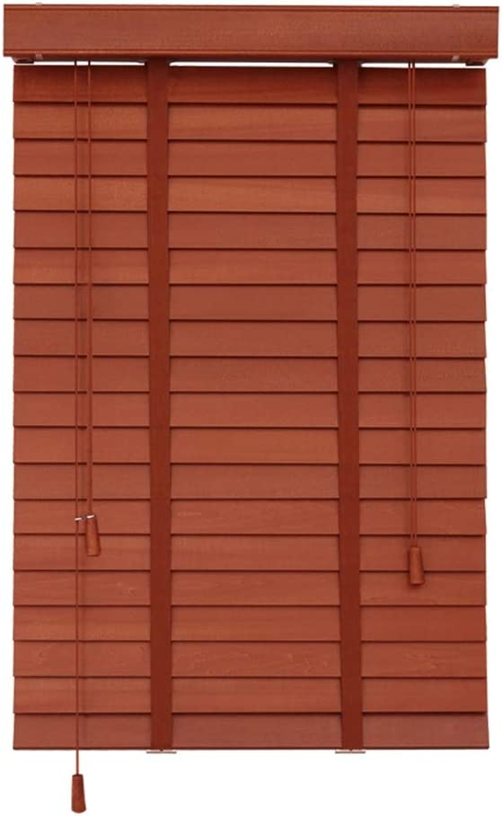 HYDT Venetian Blinds Premium Wooden with 50mm Slats, Horizontal Window Blinds for Bedroom Living Room Blackout, Easy to Install (Size : 60x180cm)