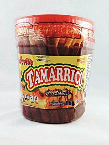Tamarrico Tarugos Tamarindo Con Chile Mexican Tamarind Candy Sticks 50 Pcs 1kg