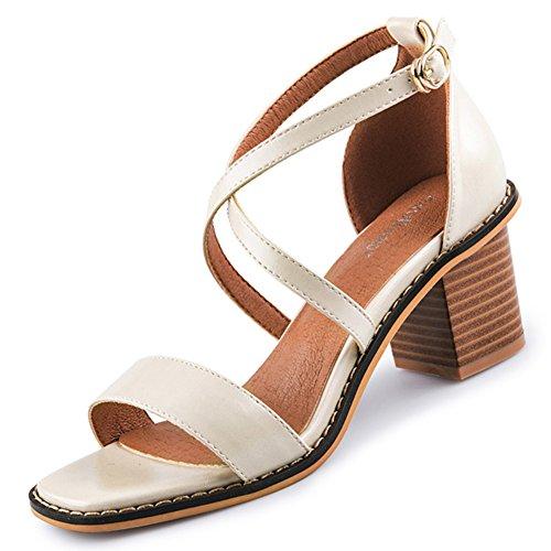 Sandalias de verano de moda roma/Sexy tacones gruesos A