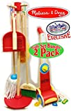 """Melissa & Doug Wooden Let's Play House! Dust, Sweep, Mop & Vacuum Up Cleaning Playsets Exclusive """"Matty's Toy Stop"""" Deluxe Gift Set Bundle - 2 Pack"""