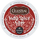 Celestial Seasonings India Spice Chai,  K-Cup Portion Pack for Keurig K-Cup Brewers, 24-Count