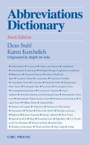 Abbreviations Dictionary, Tenth Edition Pdf
