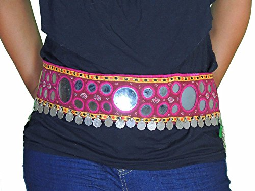 [NovaHaat Ethnic Banjara Gypsy Fashion Belt - Belly Dance Costume Coin Accessory Free Size] (Banjara Dance Costumes)