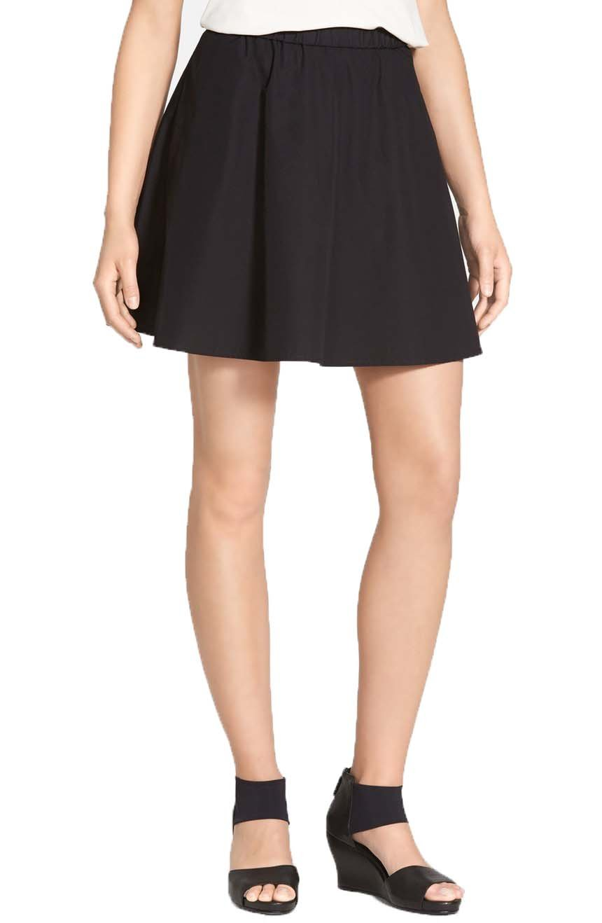 Eileen Fisher Women's The Fisher Project Flared Mini Skirt Black Size XL