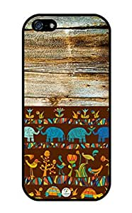 iZERCASE Colorful Africa on Wood Pattern RUBBER iphone 5 case - Fits iphone 5, iPhone 5S T-Mobile, AT&T, Sprint, Verizon and International