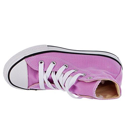 Converse Unisex-Kinder CT As SP Hi YTH Blk Mono Hohe Sneaker Fuchsia Glow