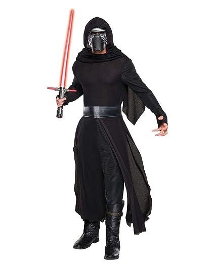 Talla /única Star Wars Disfraz de Kylo Ren con espada para adulto Rubies 820206
