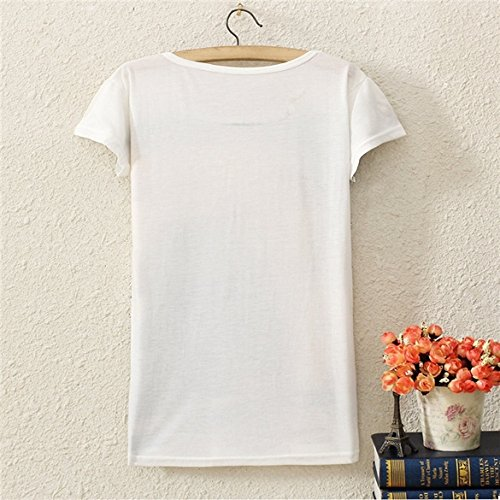 Bluetime Womens Casul Digital Animal Floral Print Loose Casual T-shirt Dress Top (LION)